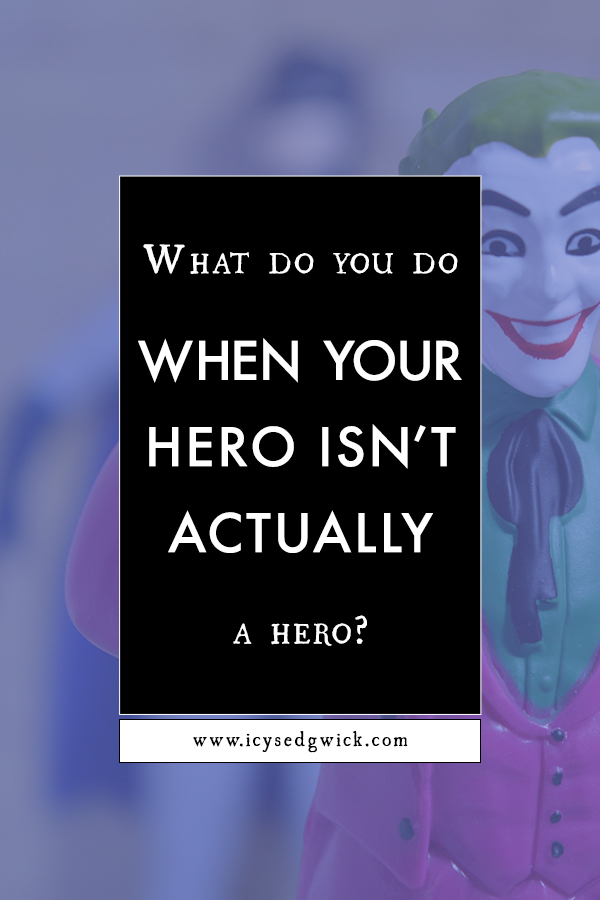Writing a hero can be difficult - especially when your protagonist is more of an anti-hero! What do you do when you realise your hero isn't actually a hero?