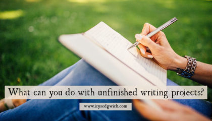What can you do with unfinished writing projects?