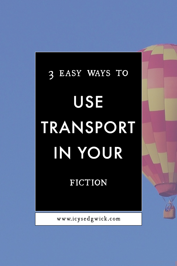Transport can provide writers with ways to show character, build worlds, or move the plot along! Click here to find out how!