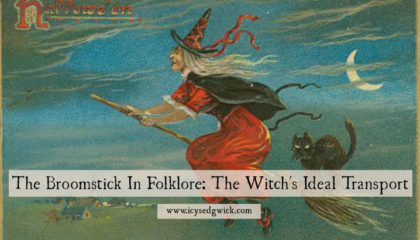 We've all seen images of witches astride a broomstick, zooming through the night sky. Click here to read more folklore about this strange mode of transport!