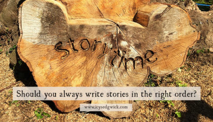 When you write stories, you're not restricted to pantsing or plotting. There is a third, hybrid, way. Click here to learn how to write in the wrong order.