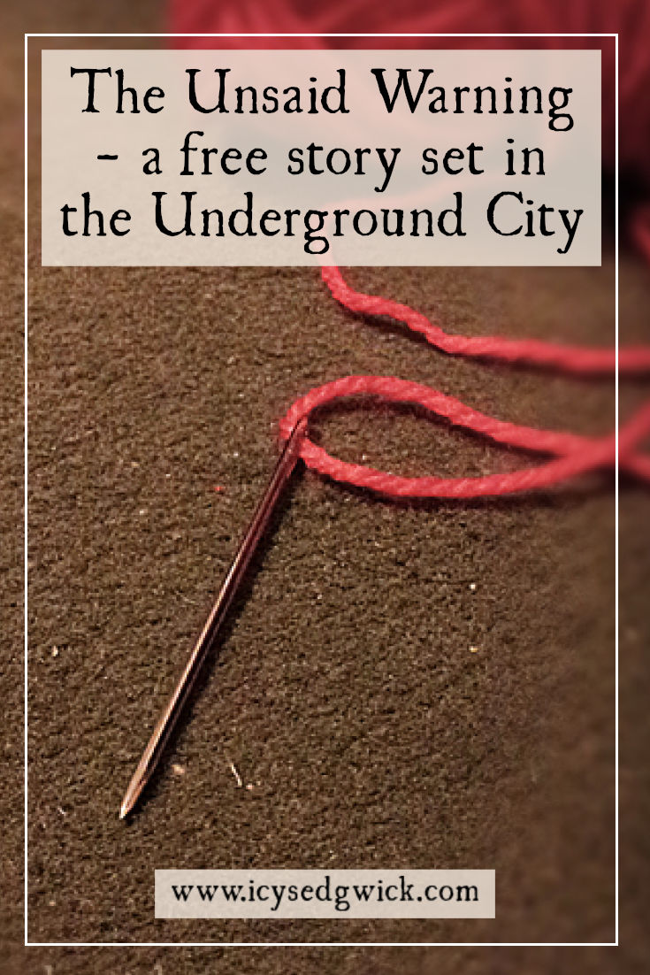 A witch solves a problem of heartbreak, but her unsaid warning will weigh heavy on her client. Click her to read more and visit the Underground City.