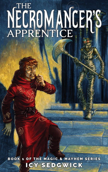 Mummies, magic, and mayhem ensue in The Necromancer's Apprentice, a dark fantasy novella described as JK Rowling meets Tim Burton!