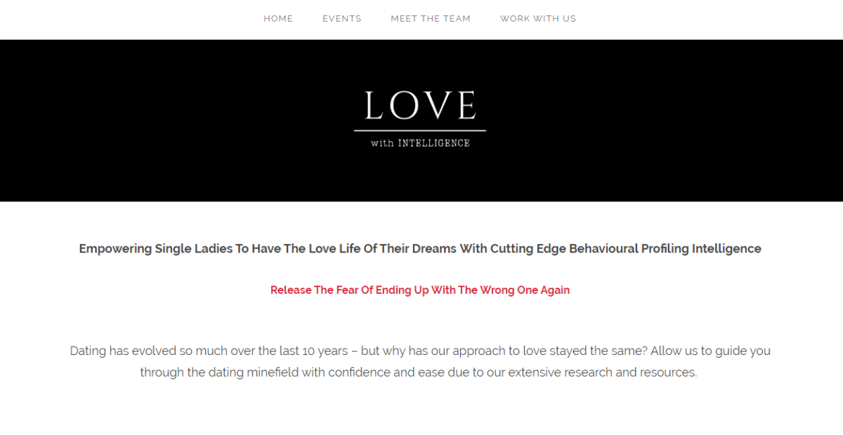 The original home page copy for Love With Intelligence. Icy Sedgwick provides writing services for coaches and online course creators. Find out how to hire her to create your copy or content!