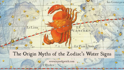 The signs of the Zodiac have their own origin myths. Let's look at the legends behind the water signs: Cancer, Scorpio, and Pisces!