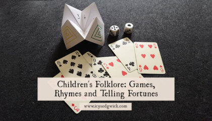 Children's folklore refers to the study of lore passed between children. What strange traditions and practices did you share with friends?